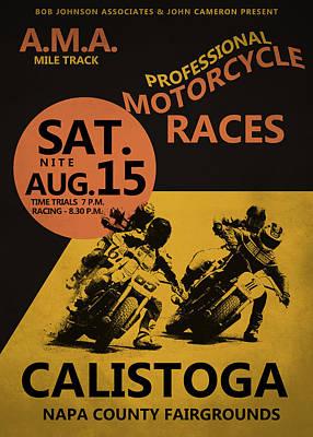 Harley Davidson Photograph - Calistoga Motorcycle Races by Mark Rogan