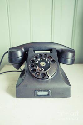 Call Me Old Telephone Art Print