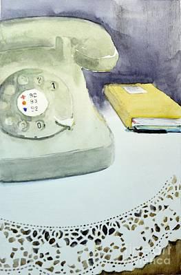 Call Me - Original Watercolor Painting By Nenad Kojic Art Print