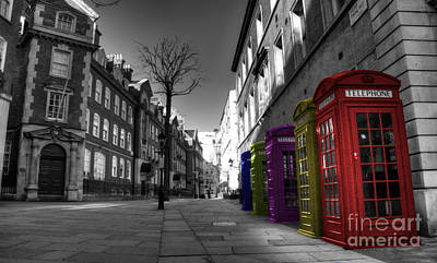 Red Phone Box Photograph - Call Me  by Rob Hawkins