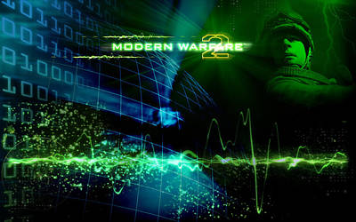 Artwork Digital Art - Call Of Duty 4 Modern Warfare by Maye Loeser