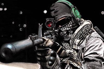 Call Of Duty Fan Art Art Print