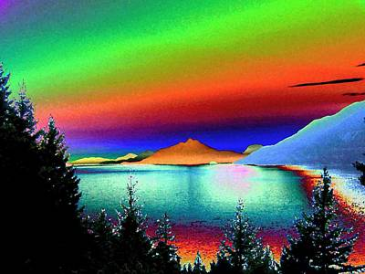 Abstract Seascape Digital Art - Call Of The Coast 2 by Will Borden