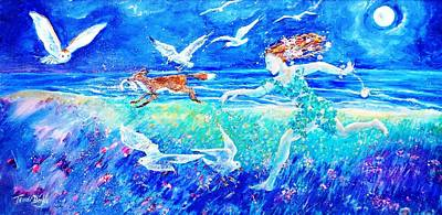 Painting -  Call Of The Running Tide by Trudi Doyle