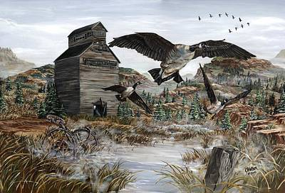 Canadian Geese Painting - Call Of The Wild by Jim Olheiser