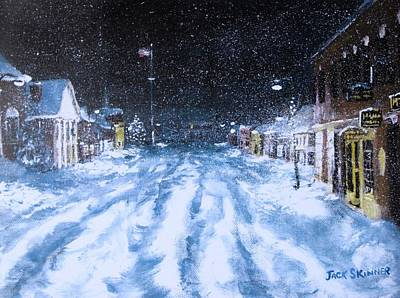 Concord Center Painting - Call Out The Plows by Jack Skinner