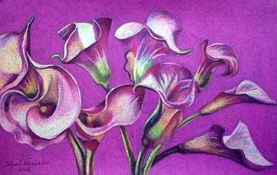 Painting - Calla Flowers by Chifan Catalin  Alexandru