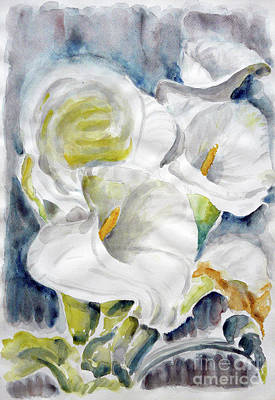 Art Print featuring the painting Calla by Jasna Dragun