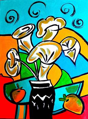 Painting - Calla Lilies Fiesta by Nikki Dalton
