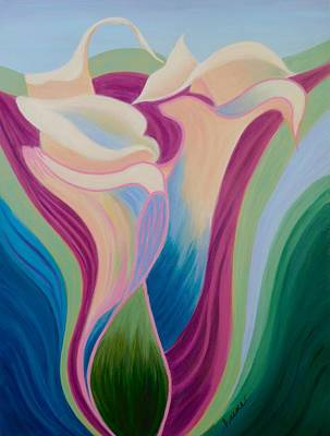 Painting - Calla Lilies by Irene Hurdle