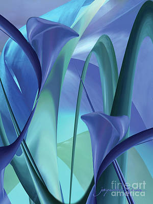 Digital Art - Calla Lilies by Jacqueline Shuler