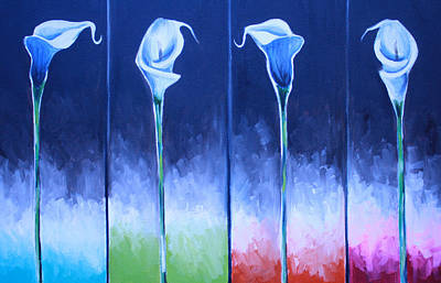Cheap Painting - Calla Lilies by Mikayla Ziegler