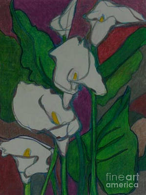 Painting - Calla Lillies by Diane montana Jansson