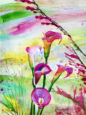 Painting - Calla Lillies by Laura Rispoli