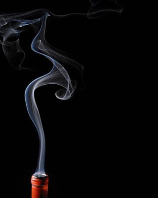 Calla Lilly In Smoke Art Print
