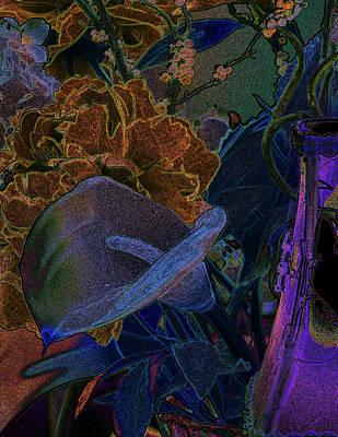 Calla Lily Abstract Art Print by Stuart Turnbull