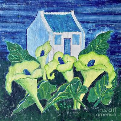 Painting - Calla Lily Garden by Caroline Street