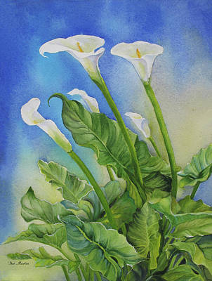 Painting - Calla Lily Salute by Beverly Martin