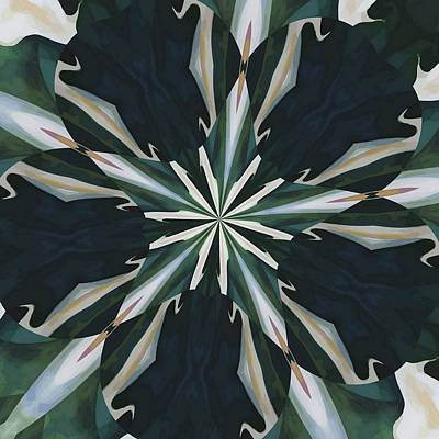 Painting - Calla Lily Star Kaleidoscope by Tracey Harrington-Simpson