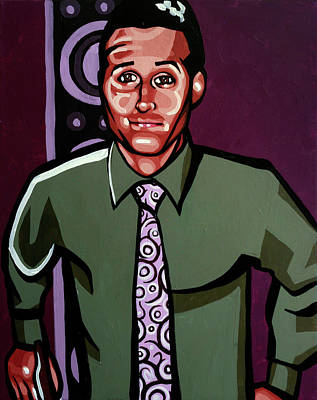 Acrylic Portrait Painting - Callahan by Rob Tokarz