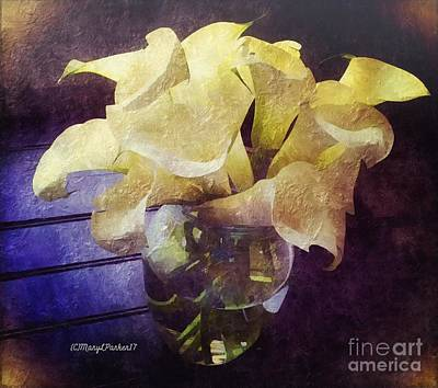 Mixed Media -  Callalily's For Easter  Copyrightmary Lee Parker 17, by MaryLee Parker