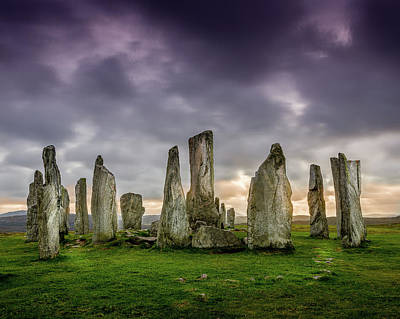 Photograph - Callanish Stone Circle, Scotland by Peter OReilly