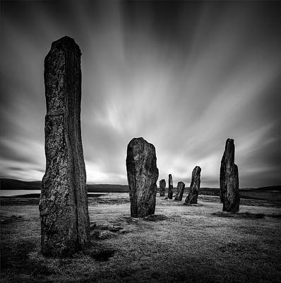 Old Western Photograph - Callanish Stones 2 by Dave Bowman