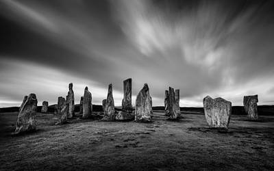 Old Western Photograph - Callanish Stones 1 by Dave Bowman
