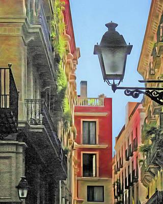 Streetlight Photograph - Calle De Barcelona by Nikolyn McDonald