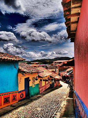 Vivid Color Photograph - Calle De Colores by Skip Hunt