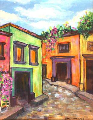 Calle En San Miguel De Allende Art Print