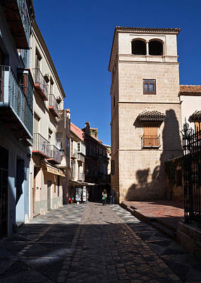 Calle San Agustn,malaga City Art Print by Panoramic Images