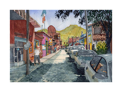 Painting - Calle Turistica Mx by Dick Dee