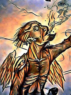Caller Of Flames Art Print