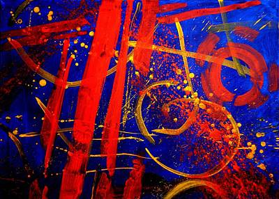 Abstract Expressionism Painting - Calligraphic Abstract by John  Nolan