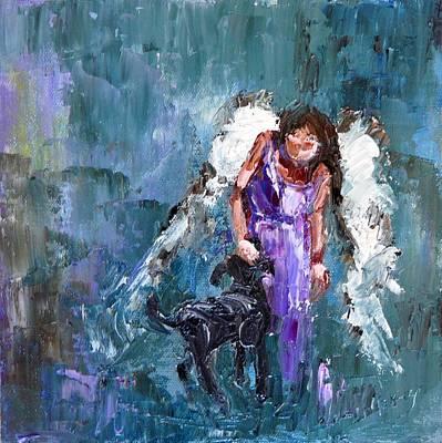 Calling All Angels Print by Judy Mackey
