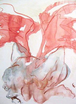 Abstracted Figuration Painting - Calling All Angels by Kohlene Hendrickson