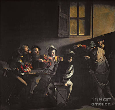 Caravaggio Painting - Calling Of St. Matthew by MotionAge Designs