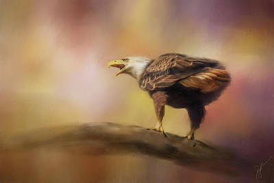 Painting - Calling Spring Bald Eagle Art by Jai Johnson