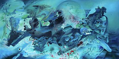 Atlantis Drawing - Calling The Ancients by Nathan Rice