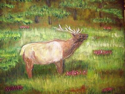 Art Print featuring the painting Calling The Herd by Belinda Lawson