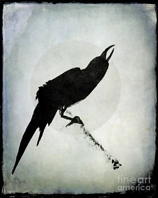 Blackbird Mixed Media - Calling To The Moon by Patricia Strand