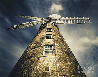 Kinetic Photograph - Callington Mill In Oatlands Tasmania by Jorgo Photography - Wall Art Gallery