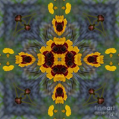 Digital Art - Calliopsis by Lori Kingston