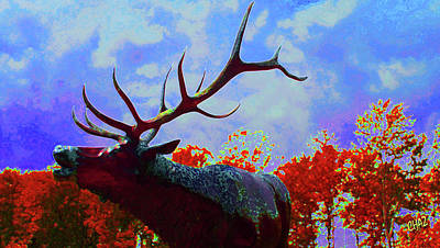 Painting - Call Of The Elk by CHAZ Daugherty