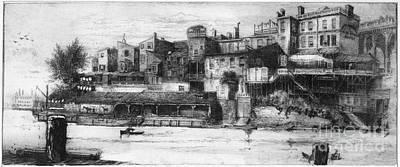 Callowhill Street Bridge, 1880 Art Print by Granger