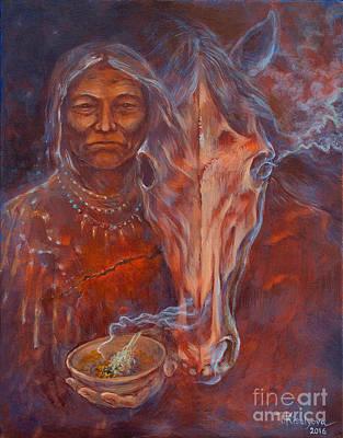 Ancestor Painting - Calls To Heal by Tatiana Kiselyova