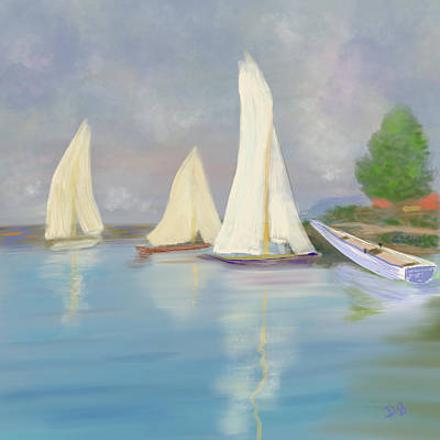 Digital Art - Calm 2 by Dick Bourgault