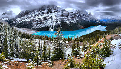 Photograph - Calm After The Spring Storm At Peyto by Adam Jewell