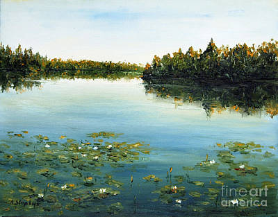 Art Print featuring the painting Calm by Arturas Slapsys